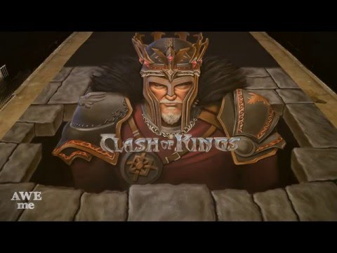 EPIC Clash of Kings 3D Chalk Art! - AWE Me Artist Series
