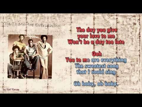 The Real Thing -  You To Me Are Everything - Instrumental
