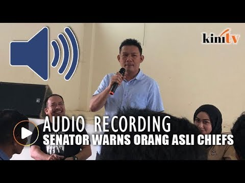 Senator claims he did not threaten village chiefs, here's the audio