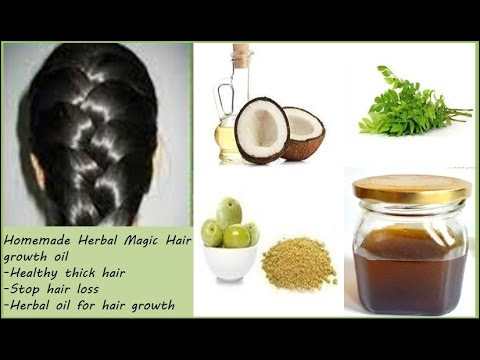 Homemade Herbal Magic Hair Growth Oil Youtube