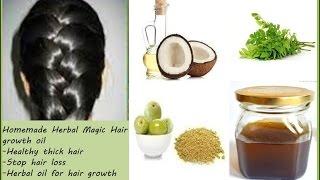 Homemade Herbal Magic Hair growth oil