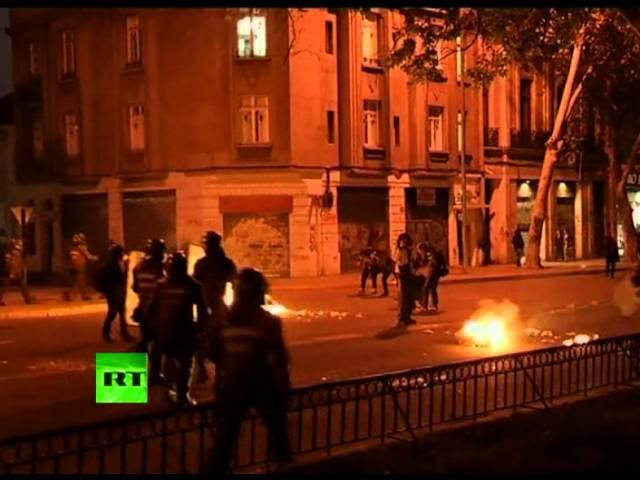 Протесты в Чили закончились столкновениями с полицией