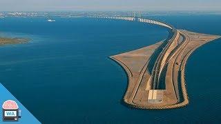 Diese dänische Brücke verschwindet einfach im Meer... I Wissensautomat