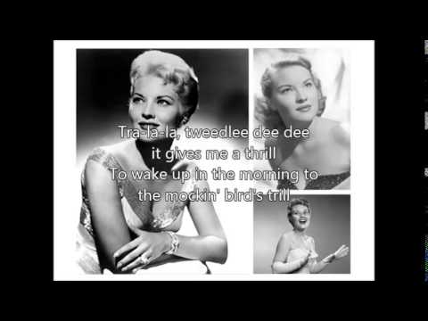 PATTI PAGE  Mockin Bird Hill�)with lyrics