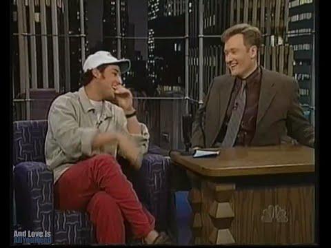 Adam Sandler on Late Night with Conan O'Brien. 1998.