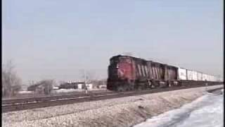 Vintage Grand Trunk Western Trains In Chicago 1989