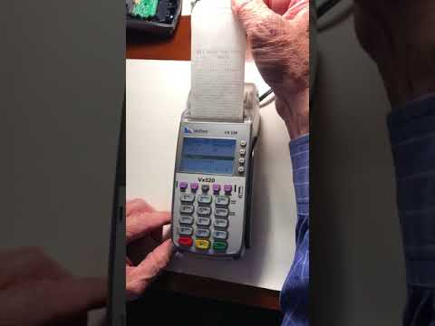 Removing Tamper Message on VeriFone VX520 credit card machine