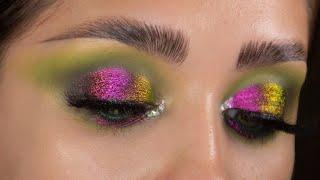 JEFFREE STAR LOTUS FLOWER Невероятный красоты макияж с мультихромом и палеткой Blood Money
