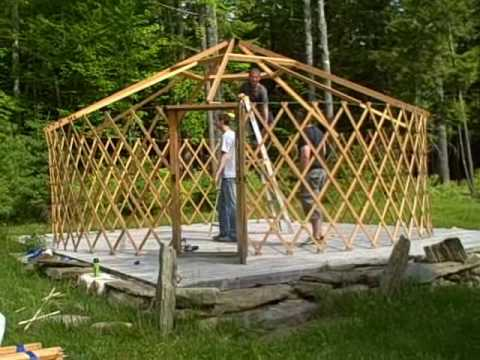 How to build a yurt in under 2 minutes youtube how to build a yurt in under 2 minutes solutioingenieria Image collections