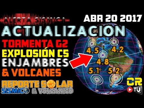 ACTUALIZACION   TORMENTA G2   ENJAMBRES Y VOLCANES ABR 20 2017