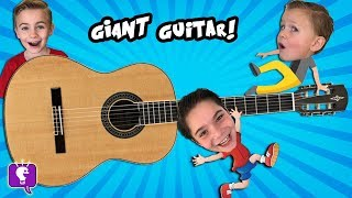 GIANT Guitar at a Museum with HobbyKidsTV