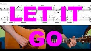 LET IT GO (Frozen) - Tutorial for acoustic guitar