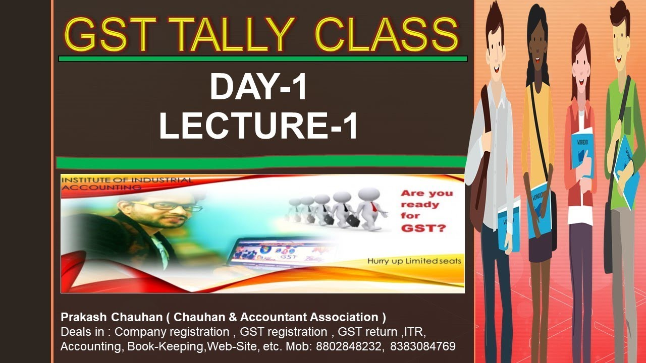 GST-Tally Erp 9 ||Practical Complete Basic Accounting Class with Example  (HINDI)|Day-1