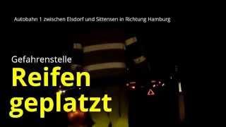 Autobahn - Nachteinsatz der Autobahn-Nothelfer - Gefahrenstelle (10.03.2015)