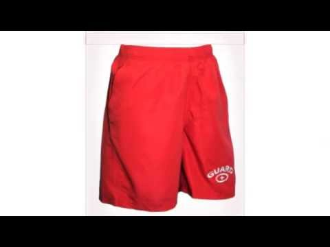 Halloween Lifeguard costume red running shorts Womens-Men  sc 1 st  YouTube & Halloween Lifeguard costume red running shorts Womens-Men - YouTube