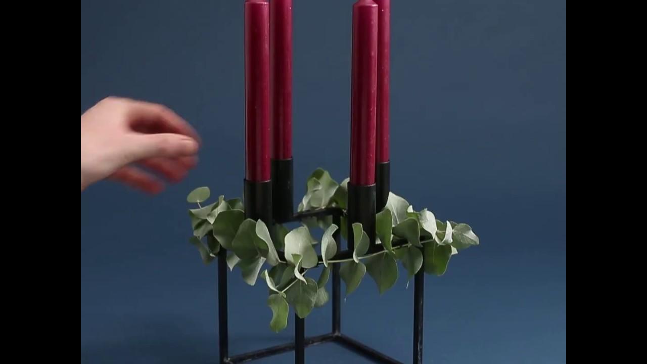 Sådan laver du en adventskrans med din kubus lysestage