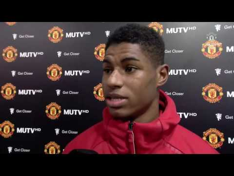 Interviews with Marcus Rashford, Jaap Stam and Daley Blind   Manchester United 4 0 Reading