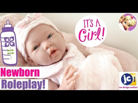 🎀 Adorable REBORN GIRL Unboxing + Review! 🌸Toria's Fun Newborn Roleplay with JC Toy's La Newborn! 👶🏼