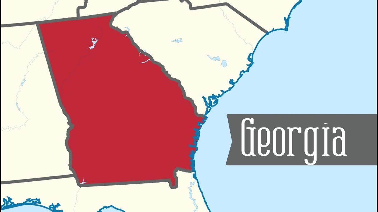 Georgia Map For Kids.Two Minute Tour Of Georgia 50 States For Kids Freeschool Youtube