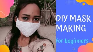 Diy face mask making for beginners without sewing machine hand sewing tutorial Dreamcatcher