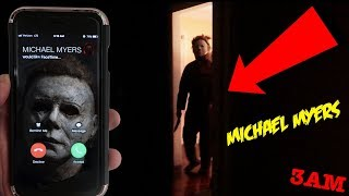(MICHAEL IS HERE!) CALLING MICHAEL MYERS ON FACETIME AT 3AM | REAL LIFE HIDE AND SEEK MICHAEL MYERS