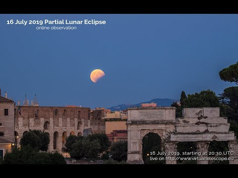 16 July 2019: partial lunar eclipse - online observation