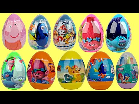 Opening Tons of Easter Eggs! Trolls, Paw Patrol, Lion Guard & More