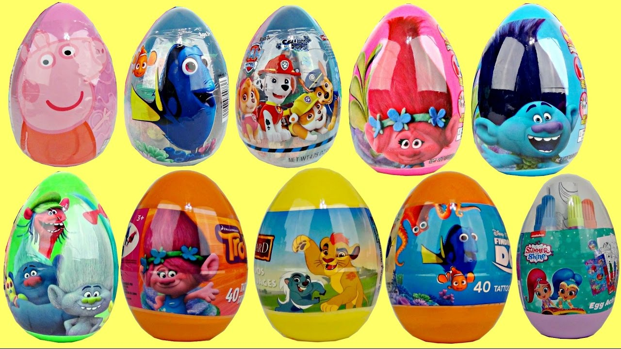 Download Opening Tons of Easter Eggs! Trolls, Paw Patrol, Lion Guard & More
