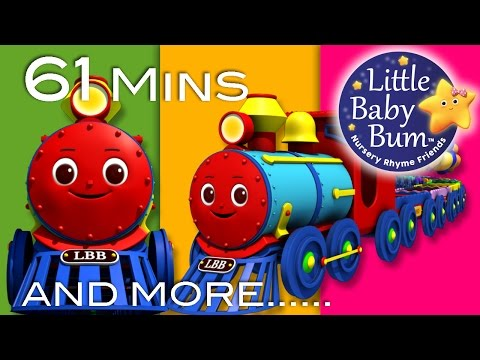 Color Train Song  Plus Lots More Nursery Rhymes  61 Minutes Compilation from LittleBaBum!