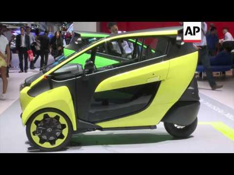 Unusual and futuristic designs attract attention at auto show