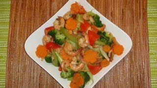Filipino Recipe - How To Make Stir Fry Vegetable With Shrimp