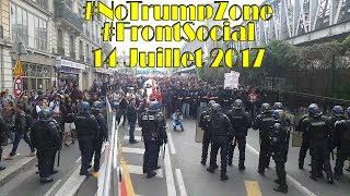 Manifestation #NoTrumpZone du Front Social à Paris - 14 Juillet 2017