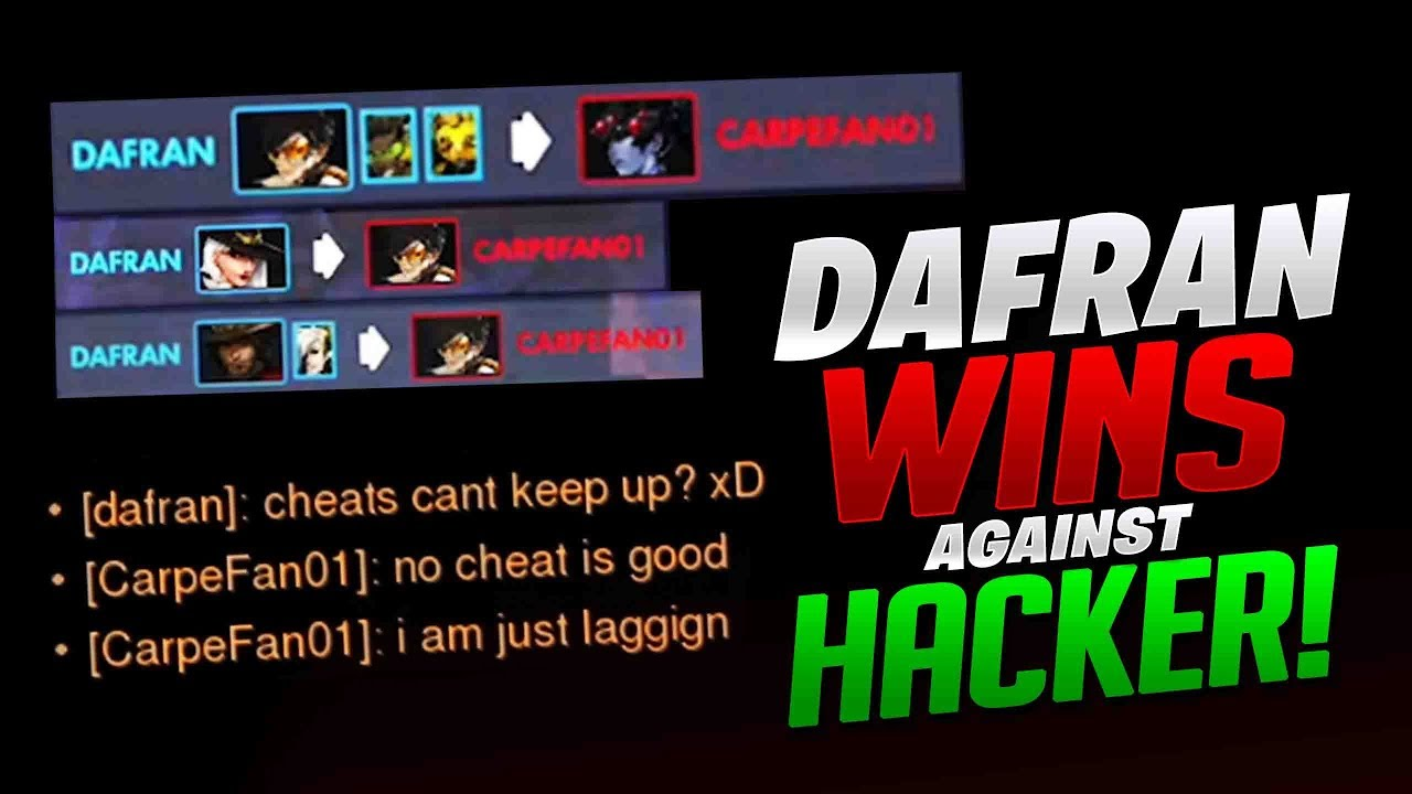 Dafran Wins Against A Hacker! Reviews His Gameplay! - Overwatch thumbnail