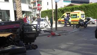 Aτύχημα σε δρόμο της Λευκωσίας μετά από καταδίωξη