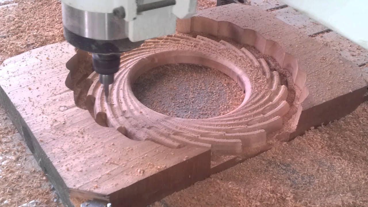 Mecanizado de espejos en madera 3 youtube for Espejos decorativos de madera