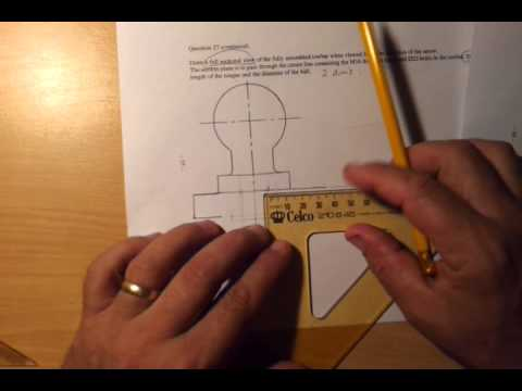 How to section a simple component using Old School tech drawing