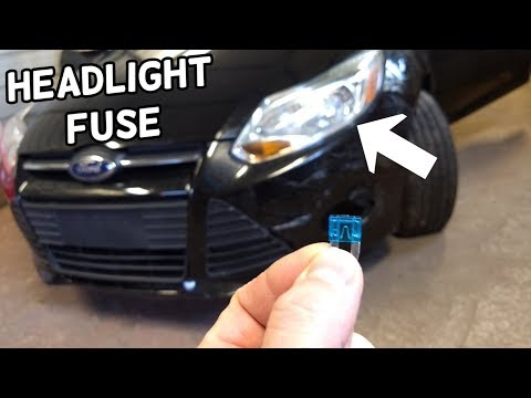 LOW BEAM HEADLIGHT FUSE LOCATION REPLACEMENT FORD FOCUS MK3 2012-2018 -  YouTubeYouTube