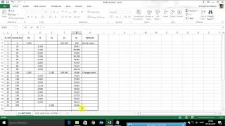 how to calculate Reduced Level (R L) in excel