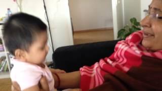 Aniku playing with nani