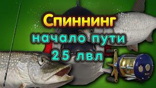 ЩУКА на КУОРИ!◦СПИННИНГ◦ 25 ЛВЛ◦level◦Русская рыбалка 4!