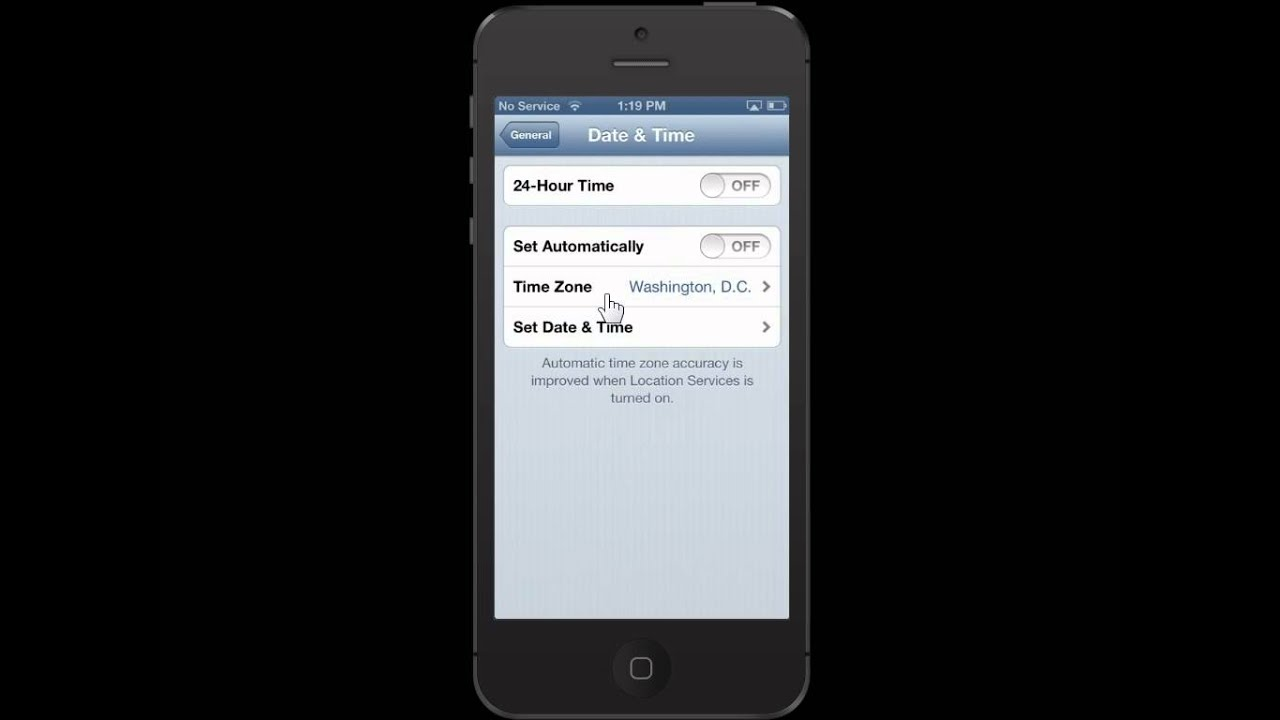 how to set time on iphone apple iphone 5 change the time zone 19089