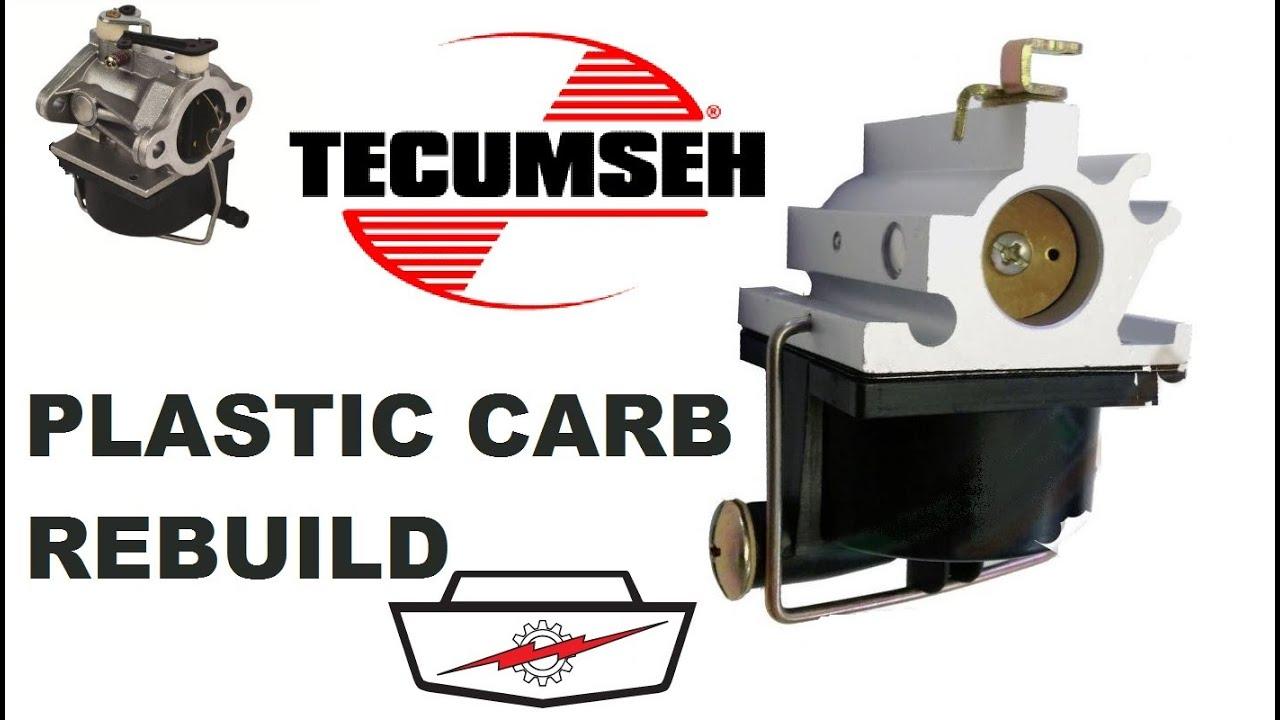 Tecumseh Plastic Bowl Machined Mower Carb Rebuild Part 2