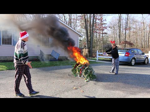 Psycho Kid Torches Christmas Tree - YouTube