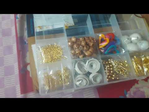 Silk Thread jewellery making kit from Amazon..by shobana
