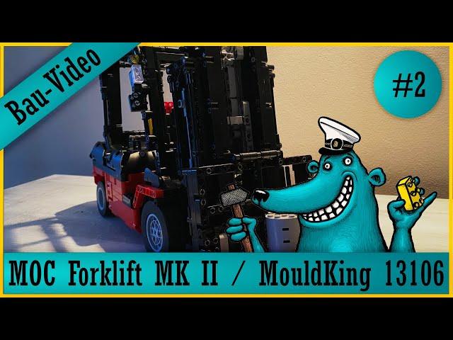 Mould King Forklift 13106: Der Käpt'n beendet den Bau eines #KeinLego-Gabelstaplers!