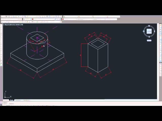 0221 - Curso Autocad - Acotar en isométrica
