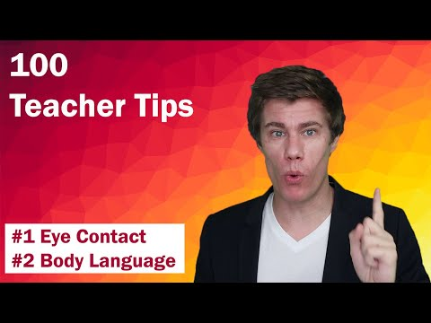 100 Teacher Tips #1-2 | Eye Contact | Body Language | Teaching Tips| Tips for New Teachers | Educate