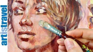 Gesicht malen lernen mit Acrylfarben   Ganz einfach malen lernen