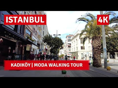 Istanbul City Walking Tour |Around Kadıköy-Moda |15 April 2021 |4k UHD 60fps