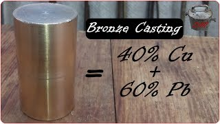 White Bronze - home melting techniques. High Leaded Bronze production